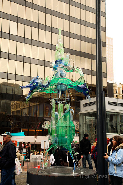 <p>Street arts. Winter Olympic in Vancouver, British Columbia, Canada</p>
