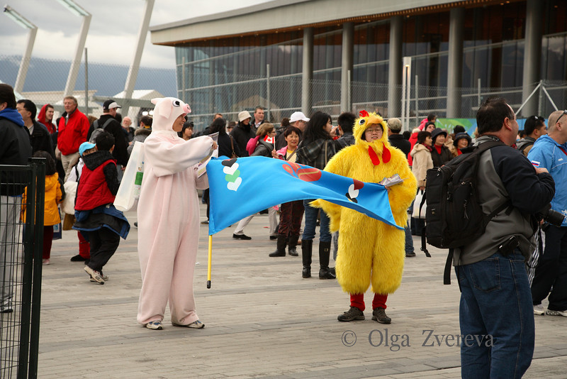 <p>Street Scene, Winter Olympic in Vancouver, British Columbia, Canada</p>