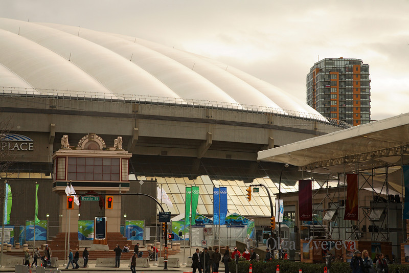 <p>BC Place, Winter Olympic in Vancouver, British Columbia, Canada</p>