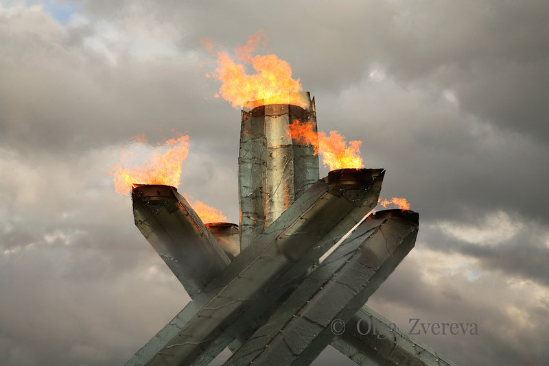 <p>Vancouver 2010 Olympic Cauldron. Vancouver, British Columbia, Canada</p>