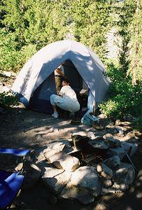 7/8/00 Elaine@ Campsite #18 Onion Valley Campground