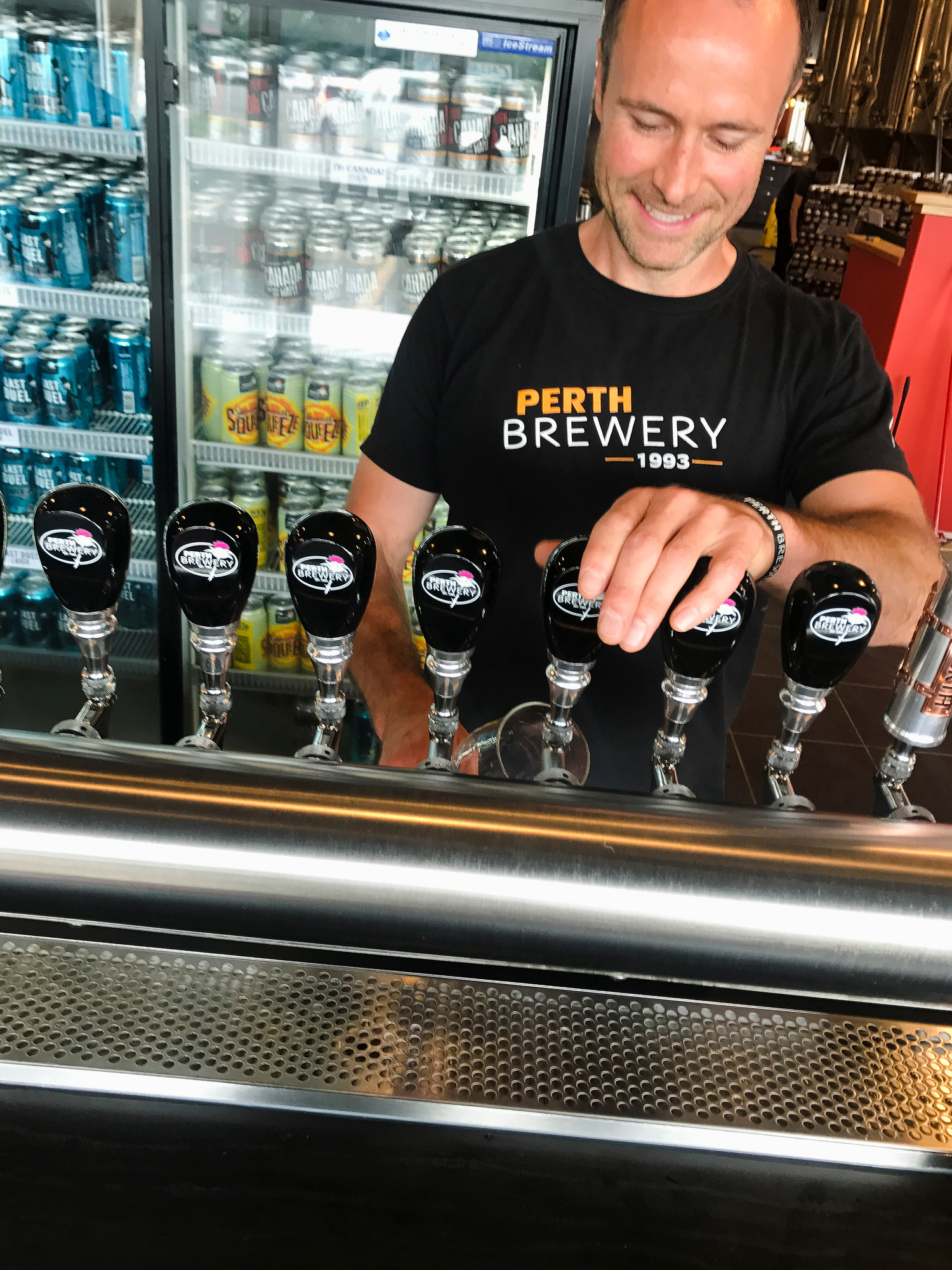 Perth Brewing serves Maple Ale on tap in Perth Ontario - the capital for maple syrup in Ontario