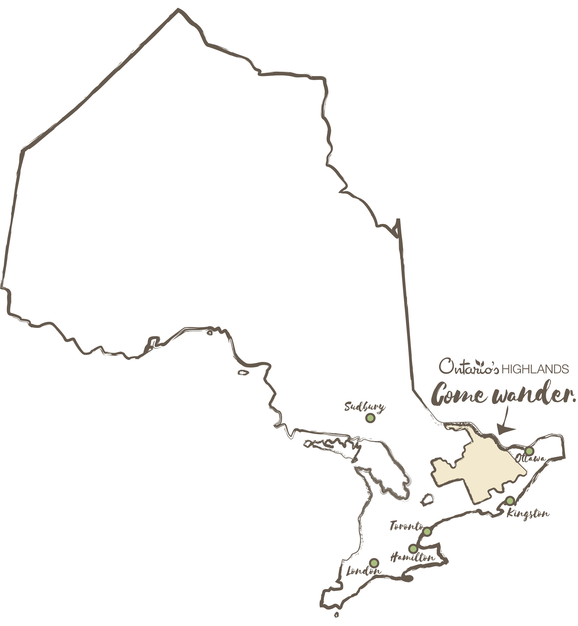 Ottawa Valley is located in Ontario's Highlands on the West of Ontario near Ottawa.