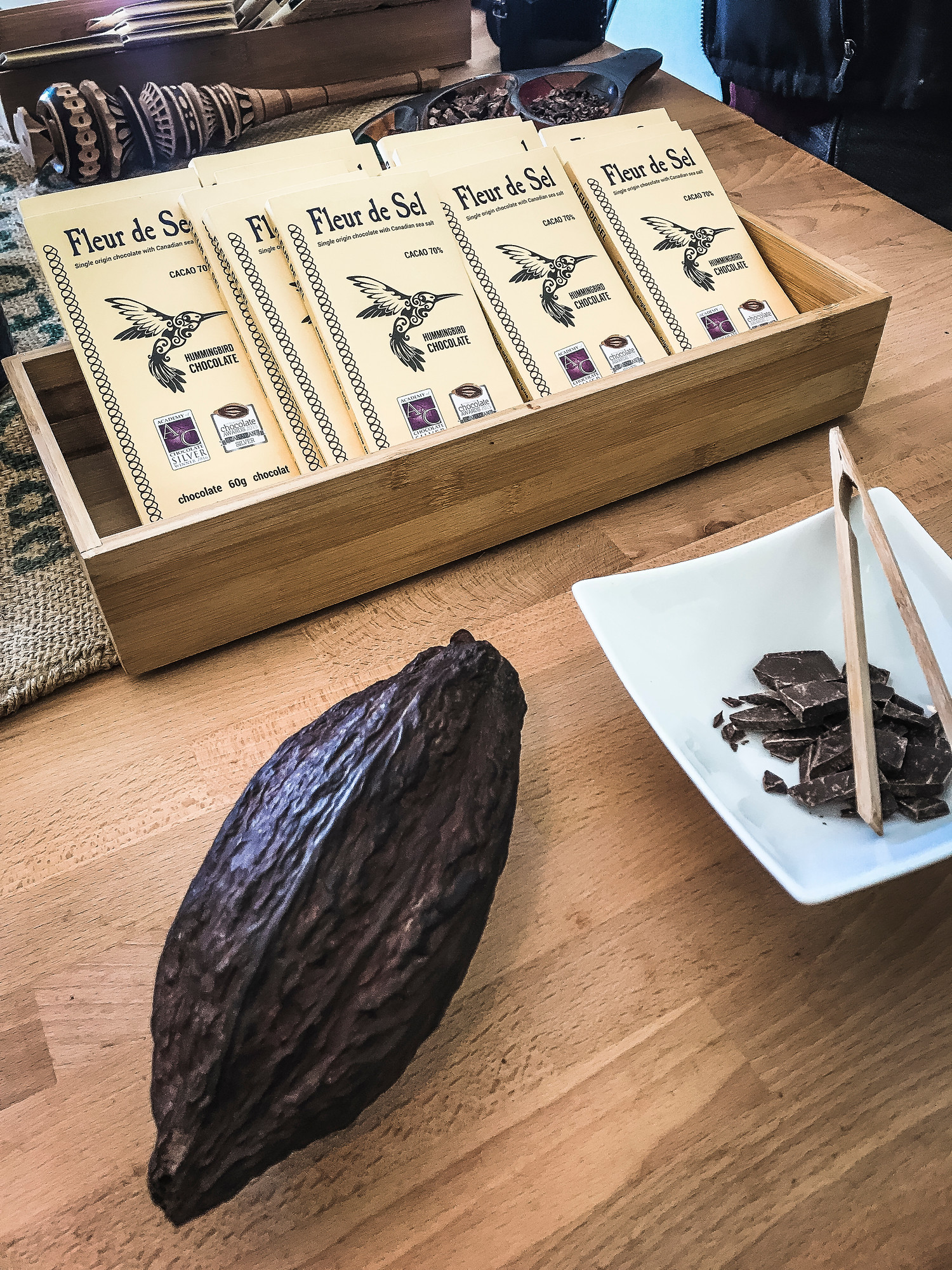 Hummingbird Chocolate in Almonte Ontario is a small batch award-winning chocolate maker.