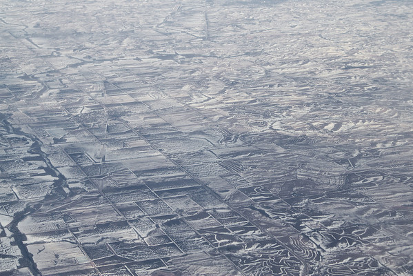 February 16, 2011<br /> Leaving Omaha.  There's still snow on the ground down there in Iowa.