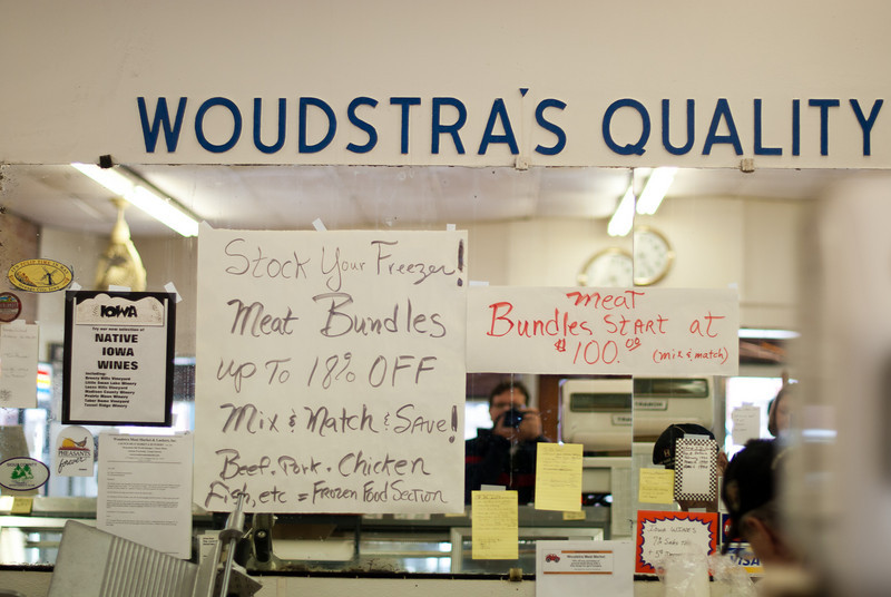 """<span id=""""title"""">Woudstra's</span> <em><a href=""""http://www.woudstrameatmarket.com/"""">Wouldstra's Meat Market</a></em> In addition to a dizzying array of meat, they had local wines and tons of Dutch treats, like Wilhemina mints and gross salty licorice. We bought a lot of stuff and were sad we couldn't buy any fresh meat - we did get some jerky, though."""