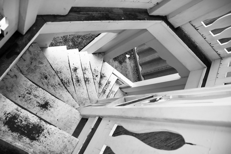 """<span id=""""title"""">Stairs</span> Across from Windmill park there is a... tower... that you can climb up and look out over the town... from about 15 feet up. It's pretty random."""
