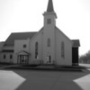 """<span id=""""title"""">Steeple Shadow</span> Curiously, this church lacked a sign saying what it was. I'm gonna assume it was a reformed church."""