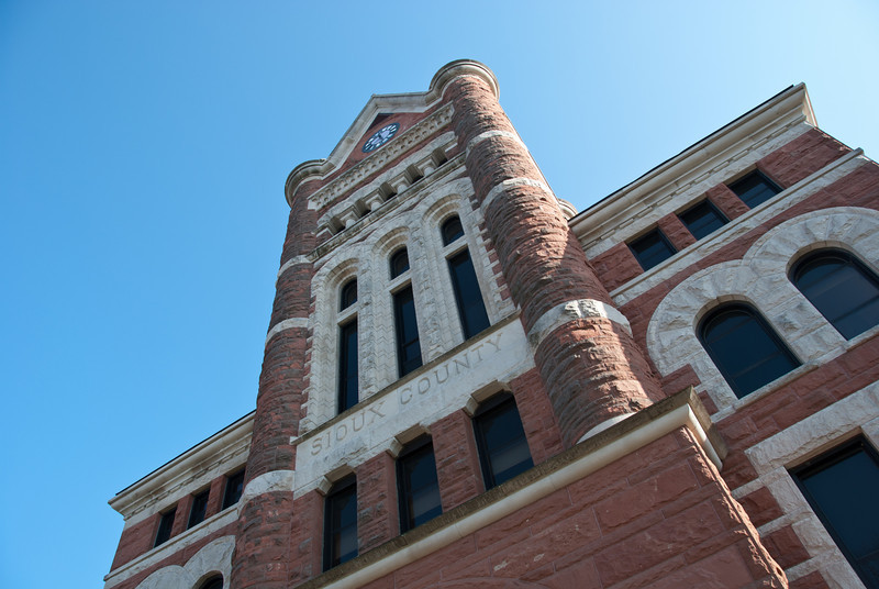 """<span id=""""title"""">Sioux County Courthouse</span> Very cool building, very prominent in the town."""
