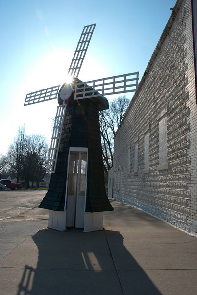 """<span id=""""title"""">Phone Booth</span> How freaking great is this?! It's a phone booth! And it's a windmill!!!  Thinking back, I really should have made a call from it. Oh well."""