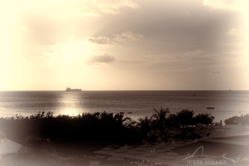 Looking out of the Ritz in Aruba
