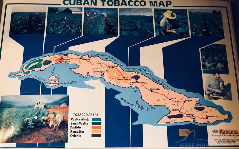 Cuban Tobacco Map