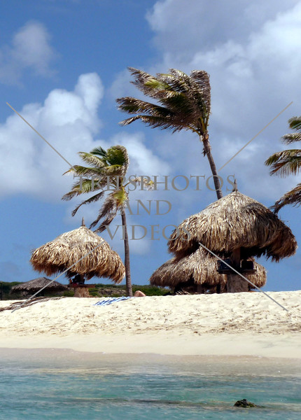 The Arashi beach in the Caribbean island of Aruba.