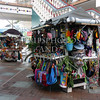 Souvenir vending stalls at the Oranjestad town in the Caribbean island of Aruba.