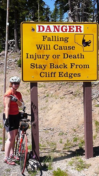 After her tumble in Oregon, Veronica was careful to take heed of this sign.