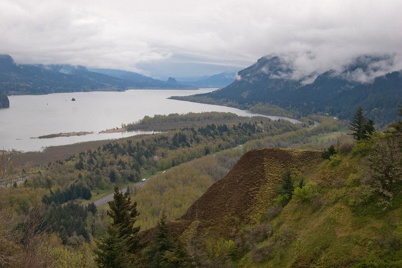 Columbia River from Vista House in Columbia Gorge