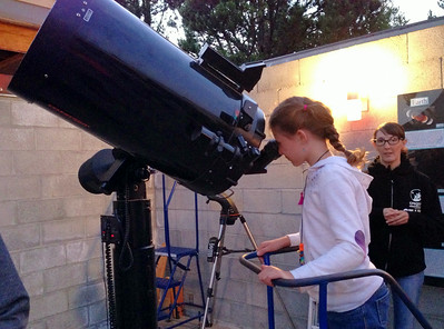 At the observatory