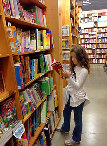 At Powell's bookstore in Portland.  Madeline's happiest place on earth!