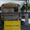 One of the dozens of food carts in Portland, and this one is proud to have the NY Times, for some reason. Up the street from here is another Mexican food cart, owned and run by the former drummer of The Shins. Really.
