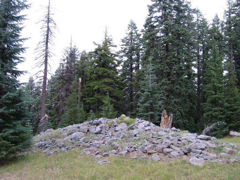 The top of Huckleberry Mountain