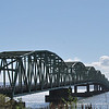 The Astoria-Megler Bridge over the Columbia River, at its mouth, is 4.1 miles long and the longest bridge in Oregon.  This picture is from the Washington state end of the bridge.