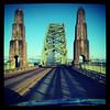 Crossing Yaquina Bay bridge. Lots of interesting bridges along the Oregon Coast Highway