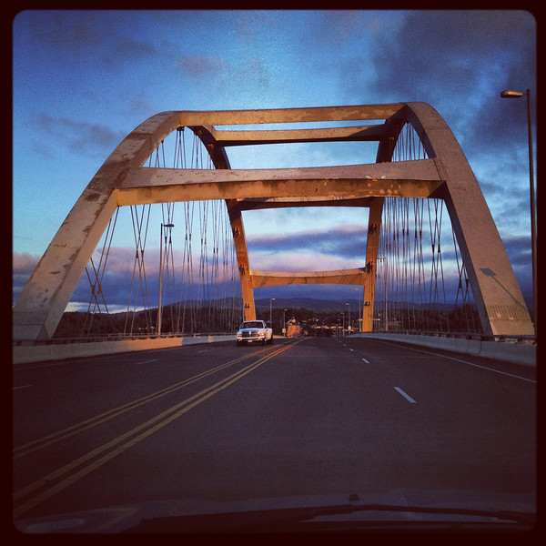 Alsea Bay Bridge, Lincoln County, built 1992