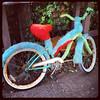 Furry bike at Cafe Mundo at Nye Beach