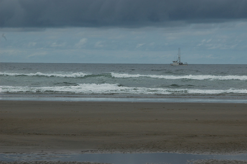 A fishing boat off Cannon Beach