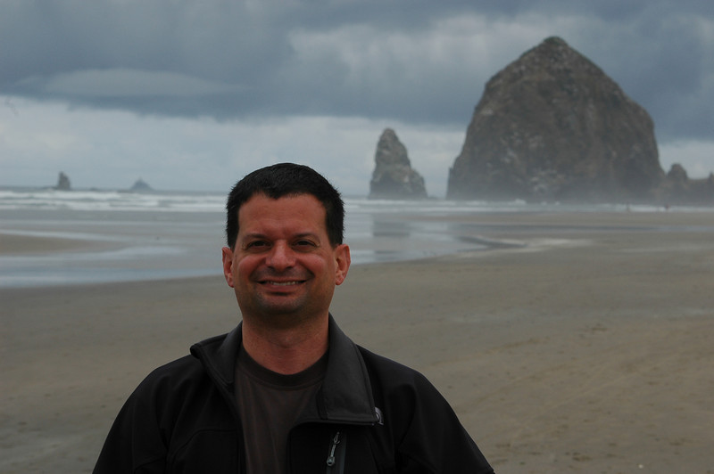 Neil at Haystack Rock on Cannon Beach