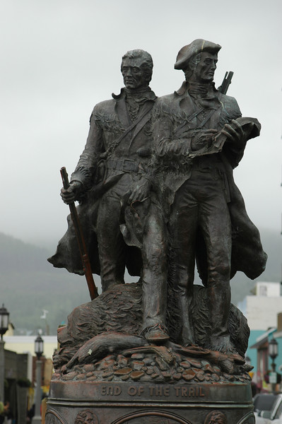 Lewis and Clark memorial in Seaside - the end of the Lewis and Clark Trail
