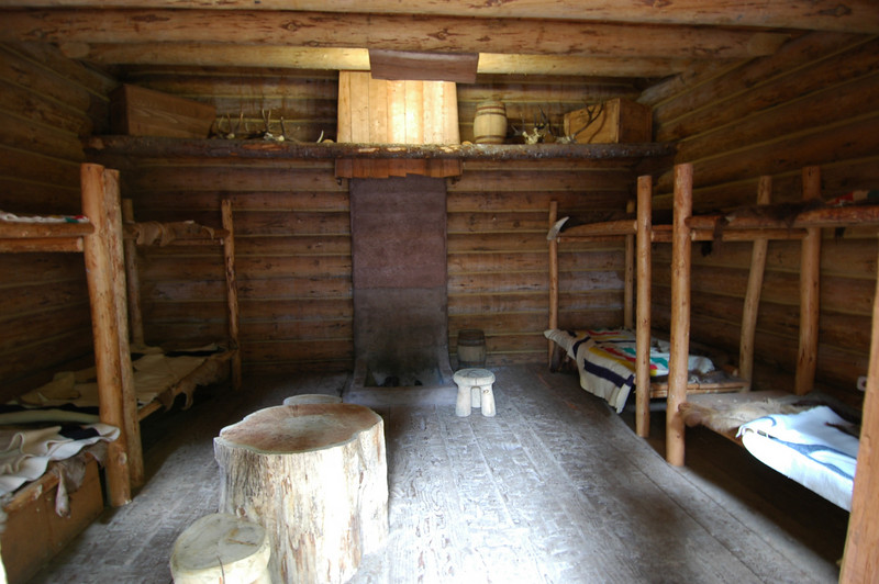 Fort Clatsop.  The winter encampment of Lewis and Clark before their return to Missouri.