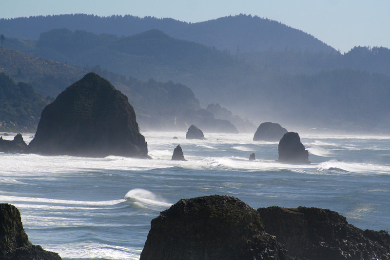 Cannon Beach is known for its iconic Haystack Rocks.