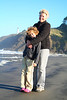 Sarah and Grammy at Cape Disappointment.