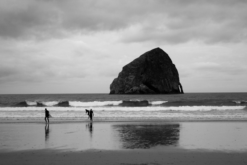 Surfers in Pacific City.