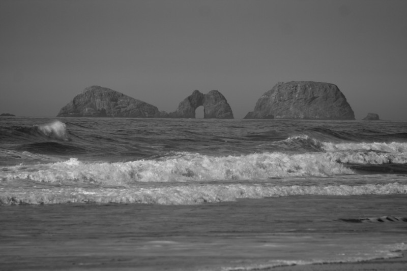 More rock arches off the coast of Cape Lookout.