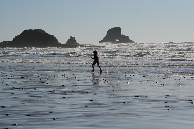 I love how when kids get to the beach, their first instinct is to run like the wind!