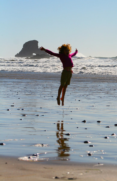 Indian Beach, inside of Ecola State Park, made us jump for joy!