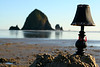 Lamp with Haystack Rocks.