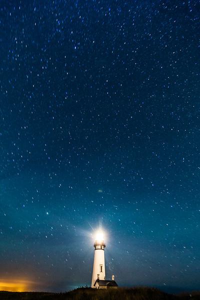 Yaquina Head Lighthouse Astrophotography, © Edward Louie 2016