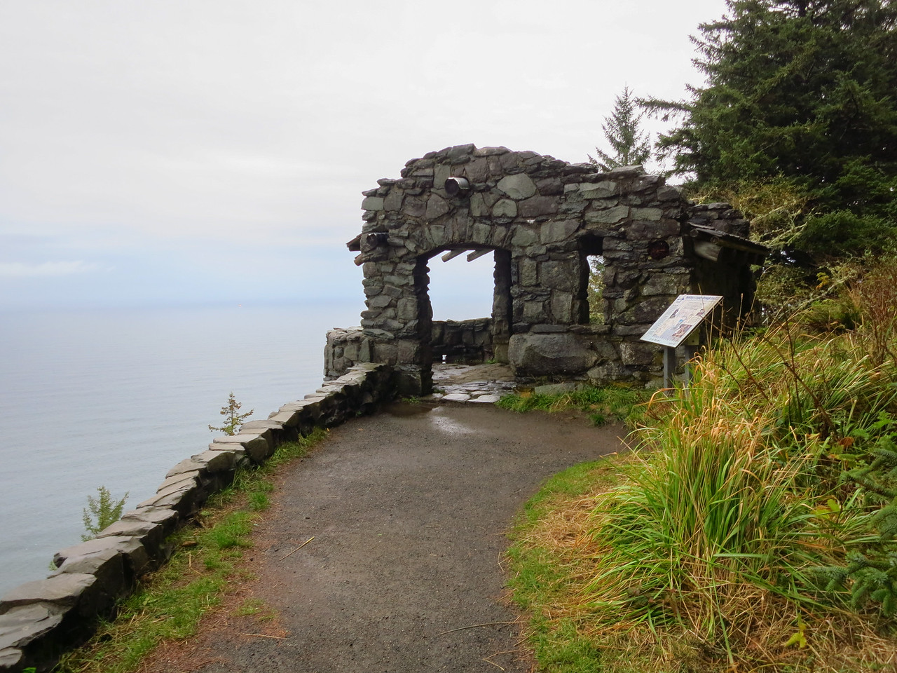 CCC shelter atop Cape Perpetua.