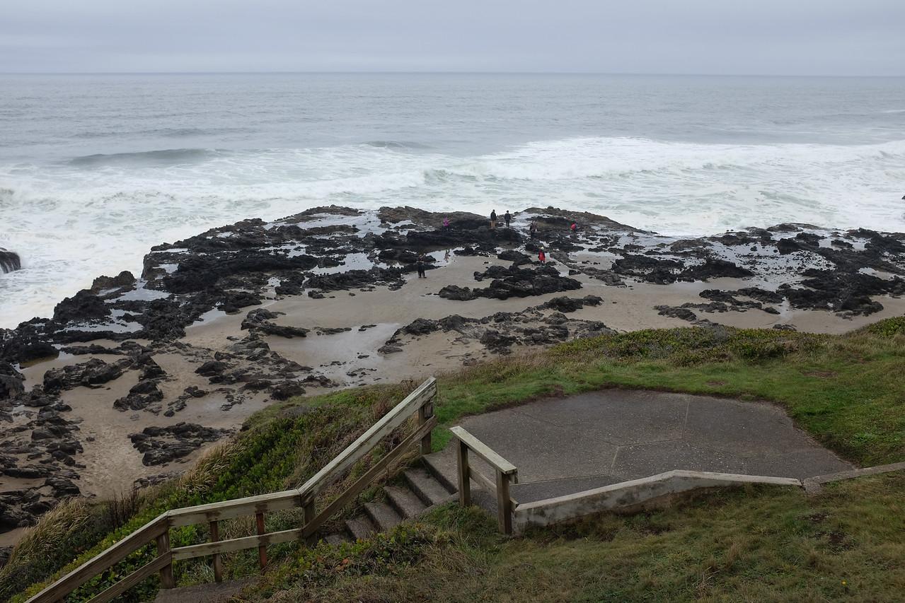 Tidal pools, low tide.