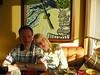 """At sunset in the Wayfarer restaurant. They serve good food and the place has a nice view of the beach, the ocean and the local main attraction - the Haystack Rock, which will be shown in the following pictures.<br /> <br /> O zachodzie slonca w restauracji Wayfarer. Daja dobre zarcie, ponadto jest to restauracja z  widokiem na plaze, ocean i najwieksza lokalna atrakcje - Haystack Rock, czyli skale zwana """"stogiem"""" ze wzgledu na swoj ksztalt. Bedzie na pozniejszych zdjeciach."""