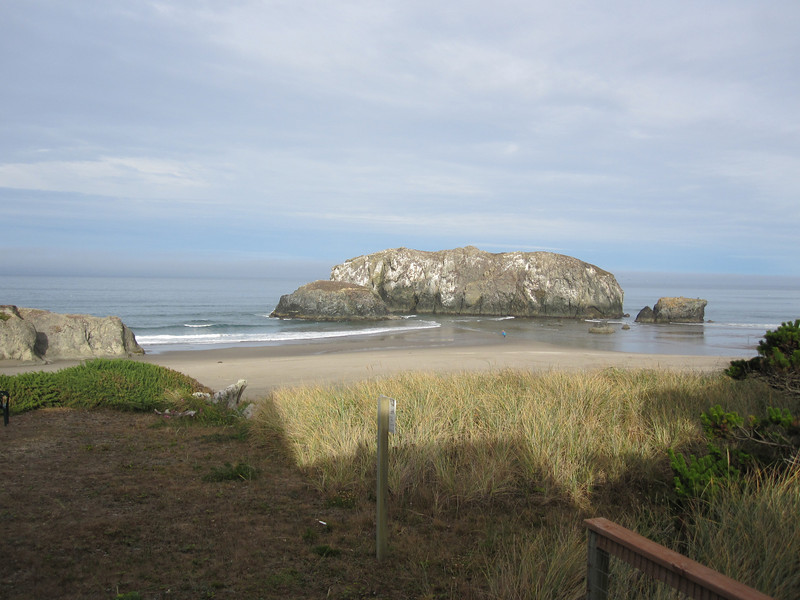 Bandon.  View from our rental home.