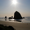 Haystack Rock was right out front