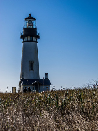 Yaquina Head Lighthouse in the afternoon.