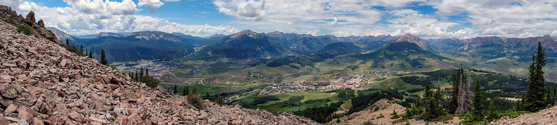 Towns of Crested Butte (left) and Mt. Crested Butte Panorama
