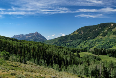 Crested Butte as seen from Judd Falls trail