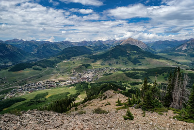 Town of Mt. Crested Butte seen from Crested Butte mountain