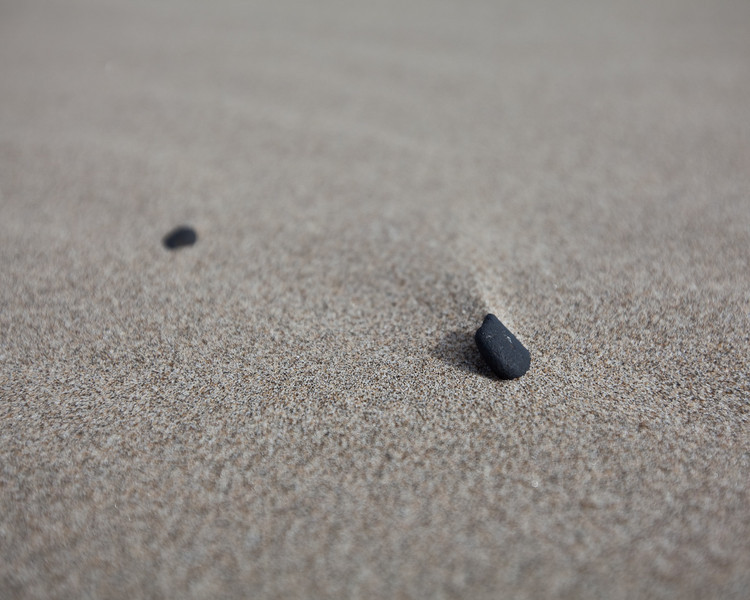 A stone on the beach in Oregon.